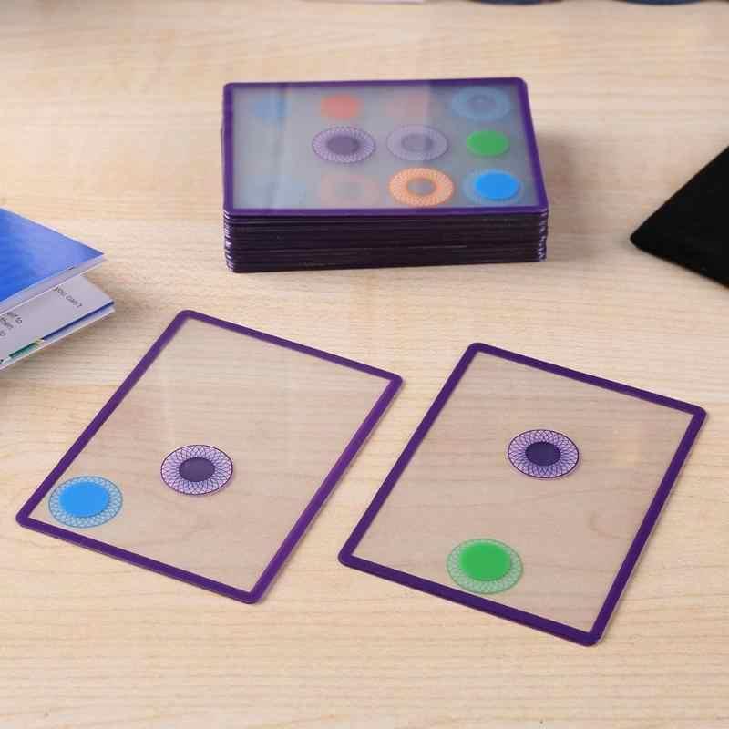 Üst üste kart oyunu Swish oyuncak seti Mekansal Mantıksal Akıllı Çocuk Hediye Şeffaf nokta kart oyunu mantık çocuklar için oyunlar