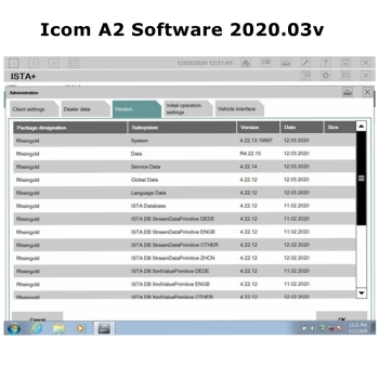 Icom A2 B C Diagnostic Software For BMW ICOM V2020.03 Ista d 4.22.12 ista p 3.67 in 500gb HDD with Expert Mode Multi-languages image