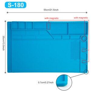 Image 2 - Tapis de soudure de grande taille 55*35cm avec le tapis de travail magnétique de Silicone de réparation pour loutil de soudure de bricolage de téléphone dordinateur électronique
