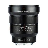 Viltrox 85mm f/1.8 lente fixa de foco fixo manual de armação completa para câmara sony nex e a9 a7m3 a7r para montagem fx fujifilm