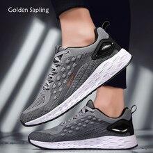 Golden Sapling Retro Men's Sneakers Lightweight Air Mesh Running Shoes for Men B