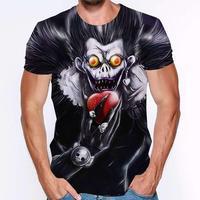 Camiseta de manga corta para hombre, ropa de calle de Death Note, Koszulki