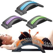 Voltar massageador maca equipamento ferramentas de massagem massageador magia estiramento fitness apoio lombar relaxamento coluna alívio da dor