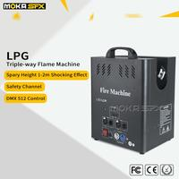 3 Heads DJ Flame Machine Fire Projector DMX Control for Special Effects Professional Stage Spray Equipment Party KTV Performance