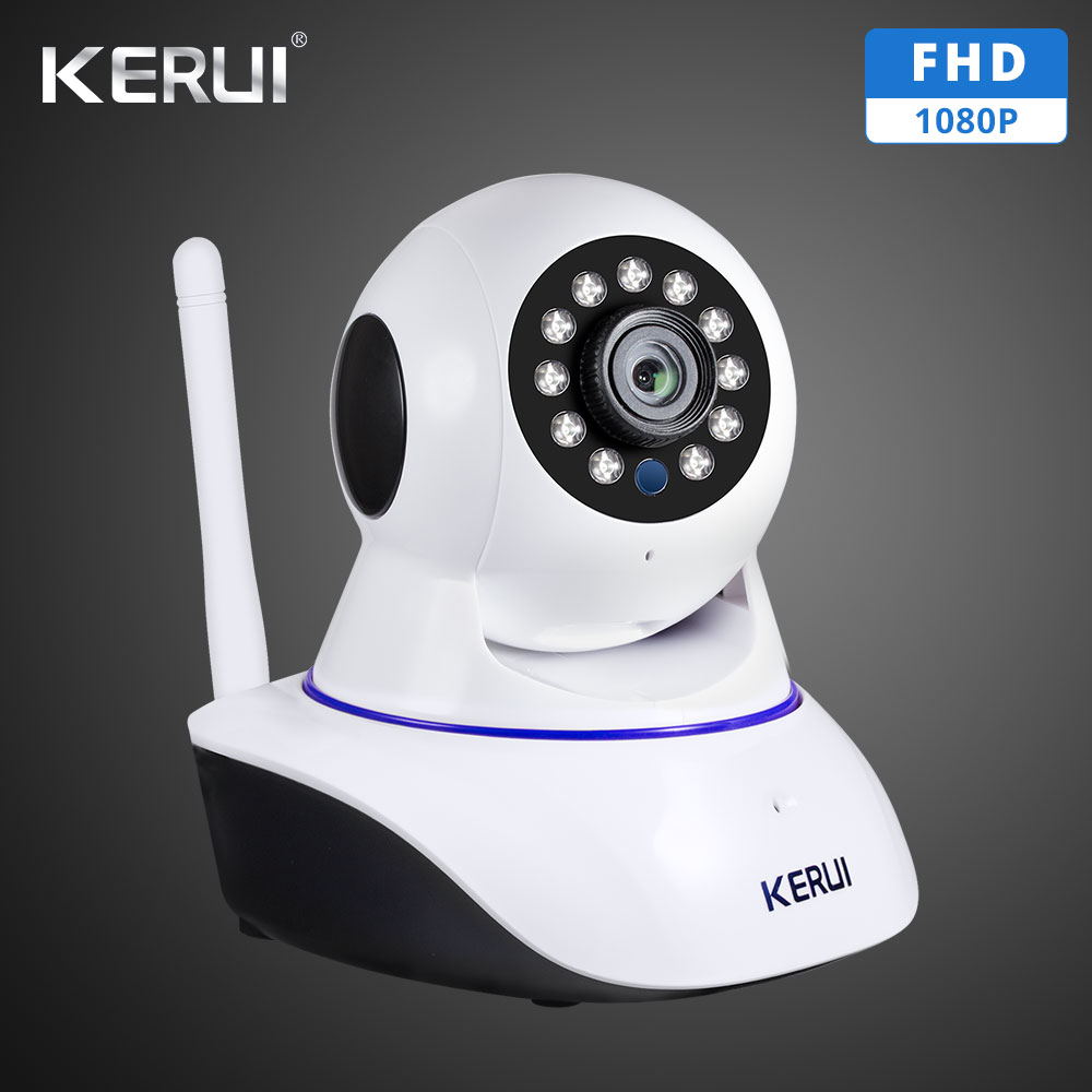 KERUI 1080P 720P Wifi IP ISO Android APP Remote Control HD IP Camera WiFi Vandal-proof Night Vision Baby Monitor
