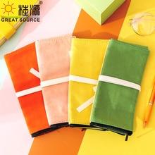 Roll Up Pencil Case Canvas Pencil Bag Roll Pen InCanvas Pencil Bag Roll Pen Insert Big Space Makeup Brush Pencil Bag Roll(30PCS)