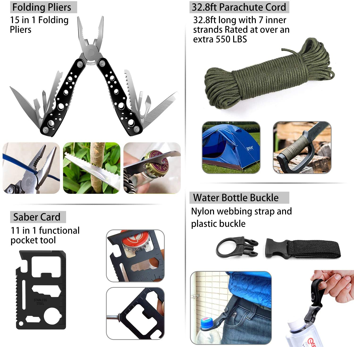Survival First Aid Kit Tactical Molle IFAK Pouch Emergency First Aid Survival Kits Camp Tool Trauma