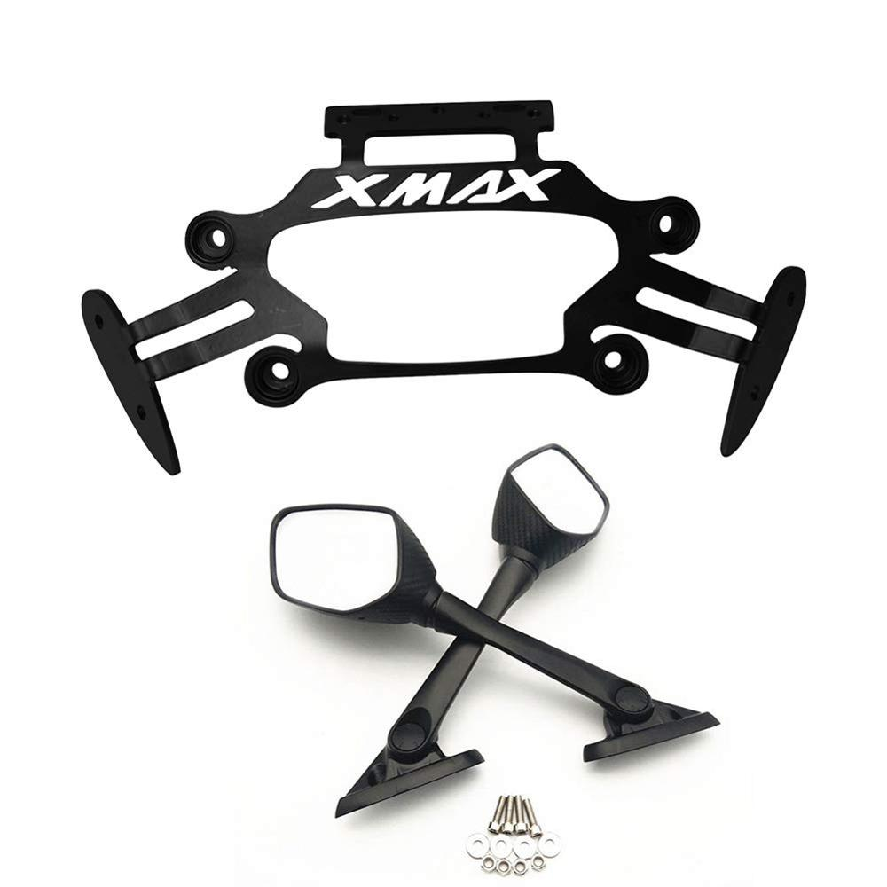Motorcycle front Stand <font><b>Holder</b></font> Smartphone For Yamaha <font><b>XMAX</b></font> X-MAX 250 <font><b>300</b></font> 2017-2018 Mobile <font><b>Phone</b></font> bracket GPS Plate mirror Bracket image