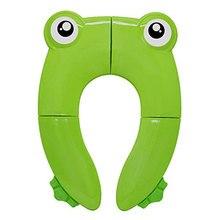 Для маленьких детей, Складывающийся горшок тренинг сиденье для унитаза крышка Нескользящие силиконовые подушечки с 10 пакетов (зеленый)
