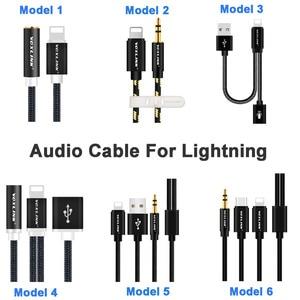 Image 5 - Mais novo aux cabo de áudio voxlink 8pin para 3.5mm aux fone de ouvido jack adaptador cabo para apple iphone x 8 plus 7/7 plus