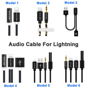 Image 5 - Newest aux audio cable VOXLINK 8pin to 3.5mm Aux Headphone Jack Adapter Cable For Apple iPhone X 8 8 PLUS 7 / 7 Plus