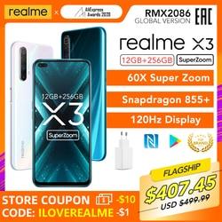 realme X3 SuperZoom Global Version 12GB 256GB 60X Super Zoom Snapdragon 855+ 120Hz Display 64MP Quad Camera UFS 3.0 30W Charger