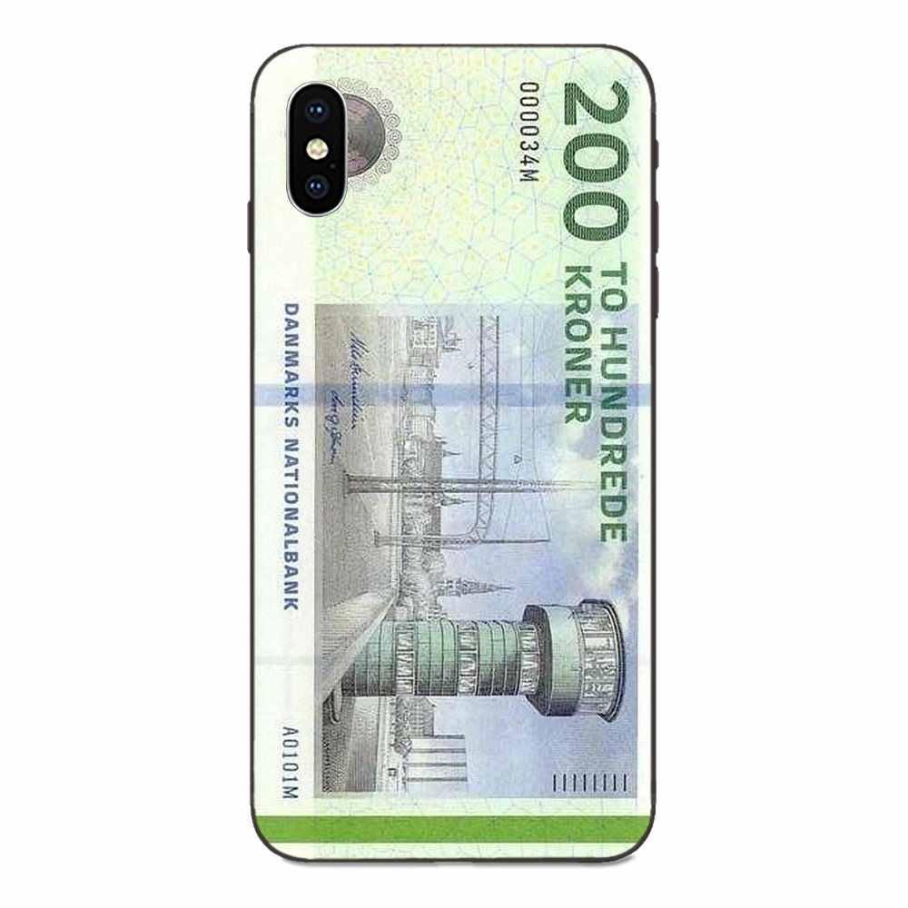 Danmark Đồng Krone Đan Mạch Silicone Mềm TPU Đen Phong Cách Mới Độc Đáo Dành Cho Xiaomi Redmi Note 2 3 4 4A 4X5 5A 6 6A 7 Đi Plus Pro S2 Y2