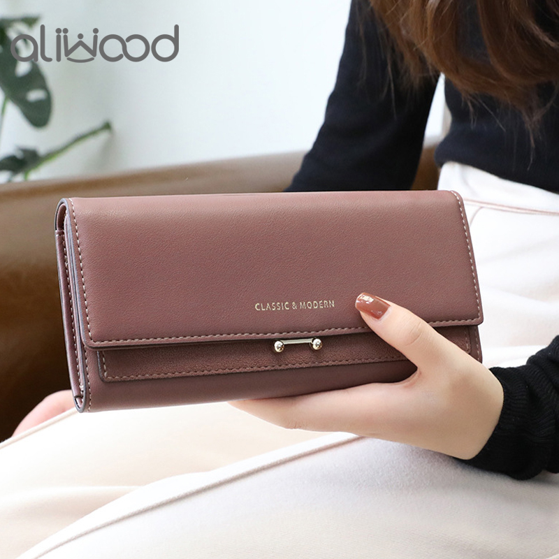 aliwood 2021 Brand Luxury Women Wallet Long Purse Clutch Large Capacity Female Wallets Lady Phone bag Card Holder Carteras Mujer
