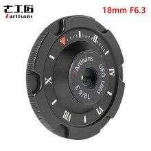 7 artesanos 18mm F6.3 lente humano APS C para lente de la cámara Sony E montaje Canon EOS M Fuji M4/3 montaje A6600 A6500 A6300 X T2 X T3 X T30