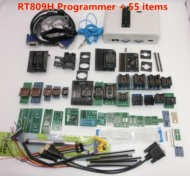 EMMC Nand FLASH RT809H ORIGINAL de Nuevo Software, programador universal extremadamente rápido TSOP56 TSOP48 BGA63