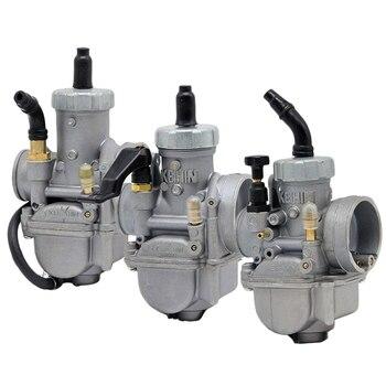 Envío Gratis Park PE Manu Carburador de la motocicleta 24mm 26mm 28mm Carburador para 50cc 100cc 125cc 150cc Moto Universal
