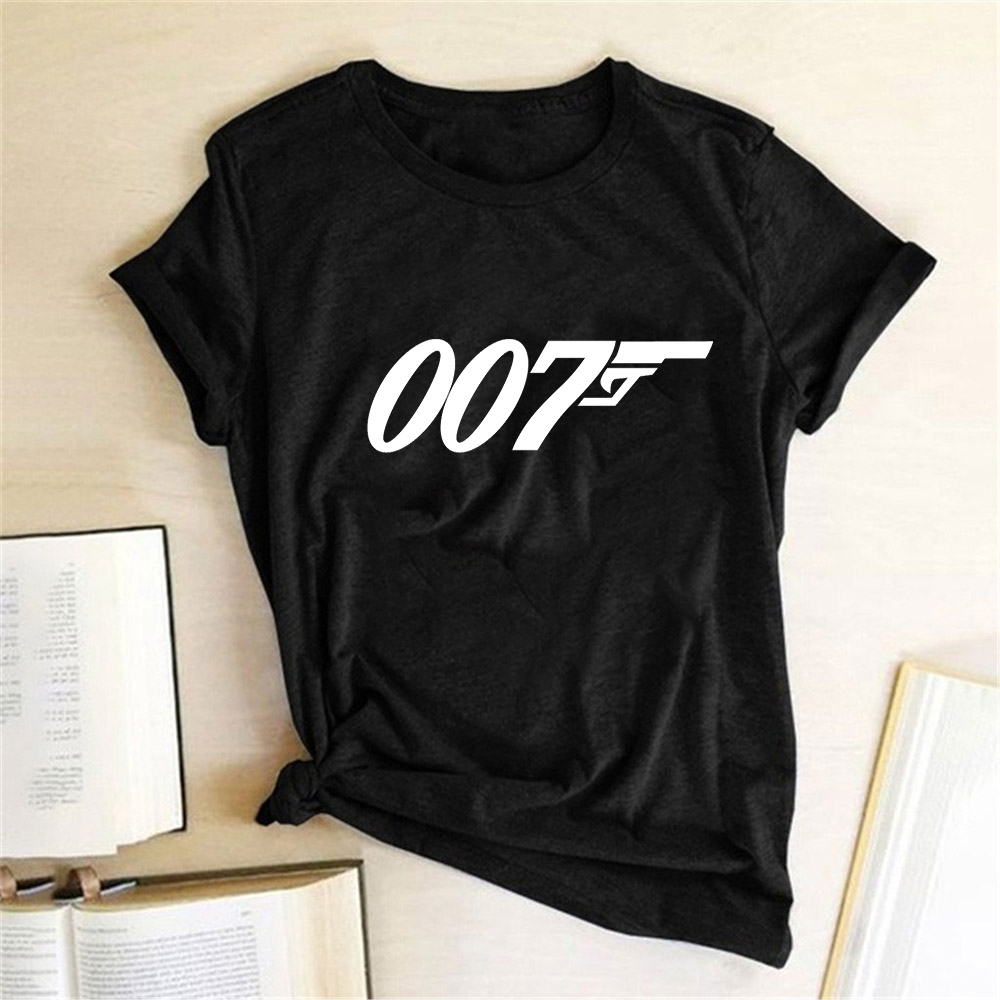 Movie Film Series James Bond 007 T Shirts Women Top 2020 Print Tee Short Sleeve Summer Tshirt Egirl Harajuku Aesthetic Clothes