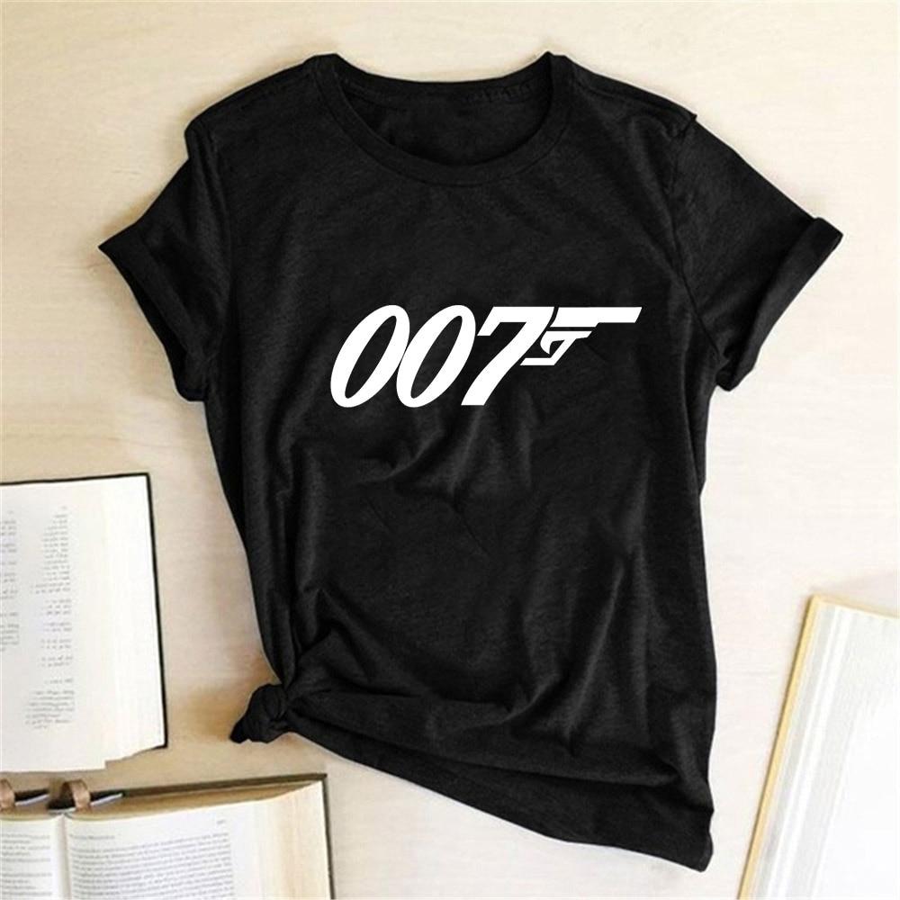 Movie Film Series James Bond 007 T Shirts Women Top 2020 Print Tee Short Sleeve Summer Tshirt Egirl Harajuku Aesthetic Clothes
