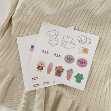SIXONE Cute Cartoon Clouds Smile Face Puppy Decorative Stickers Kawaii Waterproof Pvc Hand Account Sealing sticker Stationery