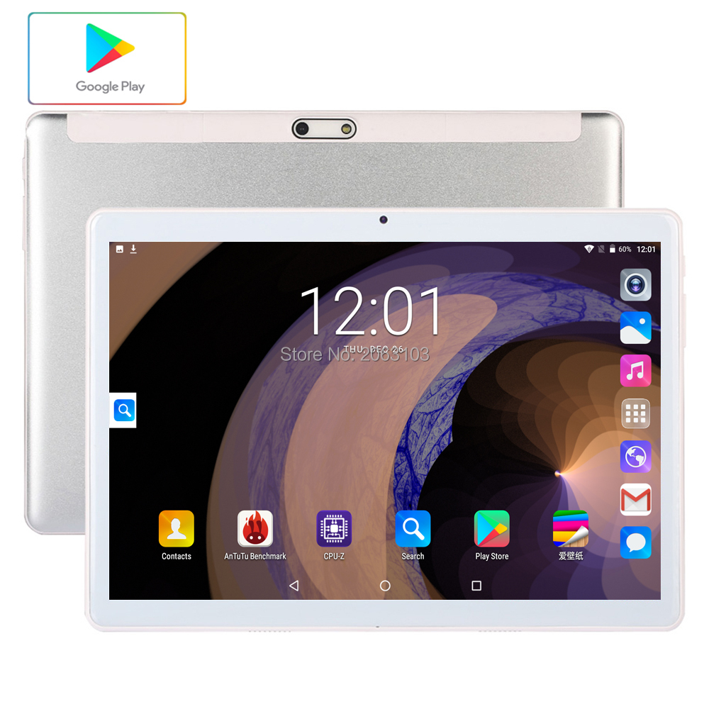 Tablets 10.1 Inch LTE 3G 4G  Phone Call Tablets  Android 9.0 Tablet Pc 32GB ROM  WiFi GPS Bluetooth Dual SIM IPS Screen