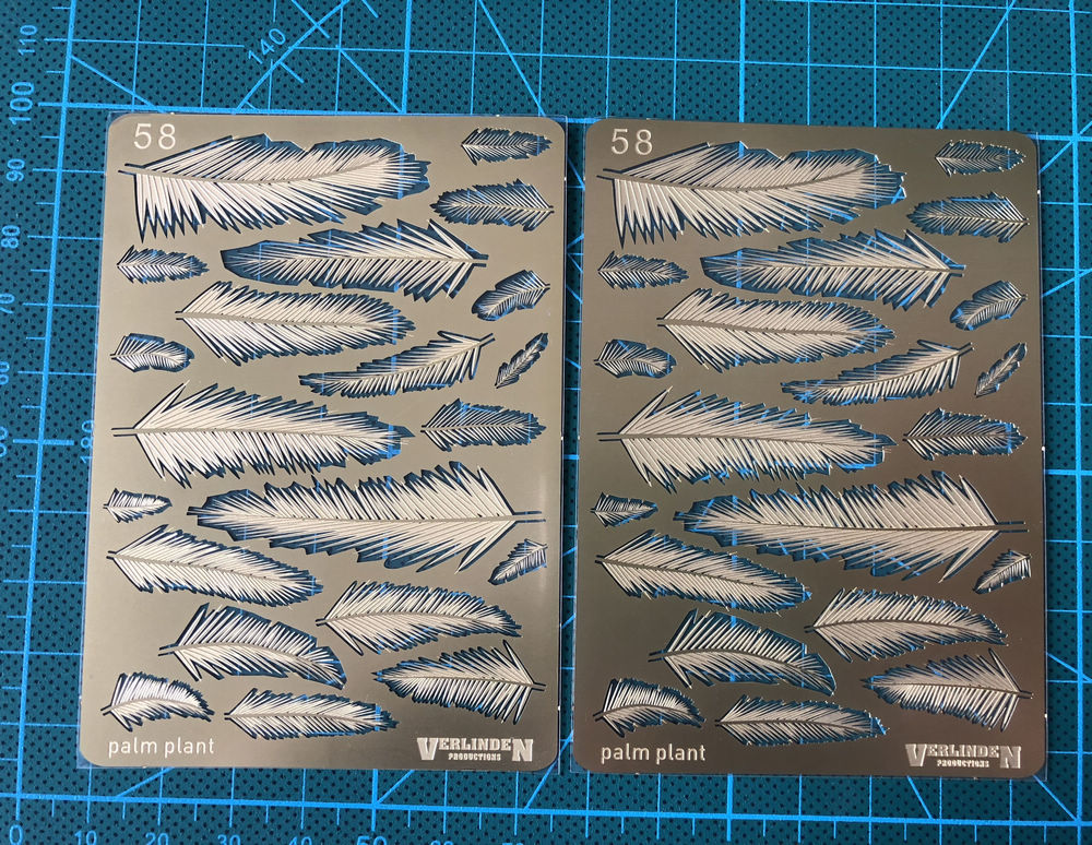 1/35 Etching Sheet Palm Plants Leaves For Scene Modeling Upgrade Metal Accessory 1pc Accept Drop Shipping Style VII