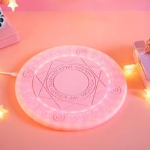 10W 5W Glowing Magic Array Universal Qi Fast Charging Wireless Charger for iPhone Charger Magic Array Wireless Charger