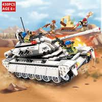 430Pcs Military Tank Building Blocks Imposta hero Esercito Panzer Pistola Arma RPG Forza DELLE NAZIONI UNITE LegoINGs Technic Mattoni FAI DA TE Giocattoli per I Bambini