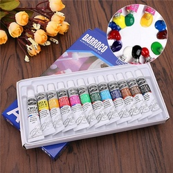 12Colors/Set Acrylic Paint Color Set Acrylic Paints Pigment for Artists Ceramic Stone Wall Craft Paints Color Pigments