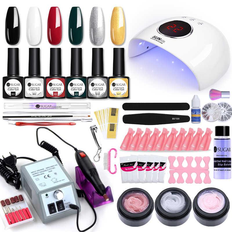 UR Gula Super Set untuk Kuku Kit dengan LED Kuku Lampu 20000 Rpm Kuku Bor Mesin Cat Kuku Akrilik Kit nail Art Alat