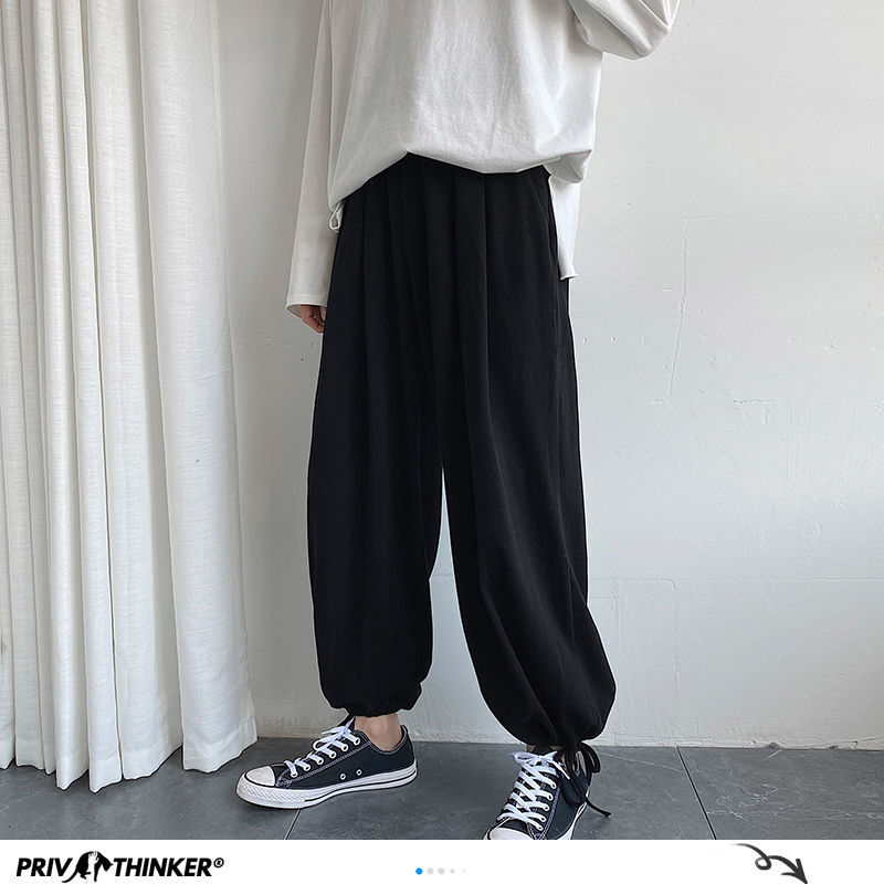 Privathinker Ins Style Men Oversized Sweatpants Korean Streetwear Loose Joggers Pants Harajuku Male Wide Leg Casual Harem Pants