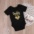 Baby Rompers Newborn Baby Boys Girls Clothes Daddy Is My Hero Funny Print Infant Baby Jumpsuit Cute Casual Baby Sleepwear 0-18M