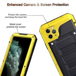 Image 5 - En Aluminium de luxe En Métal IP68 Étui Étanche pour iPhone 2 11 Pro Max XR X 6 6S 7 8 Plus X Max Antichoc Anti Poussière