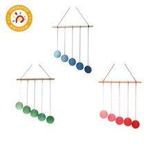 Montessori DIY Visual Practice Charm Birth Baby Gradient Color Paste Ball Hanging Gobbi
