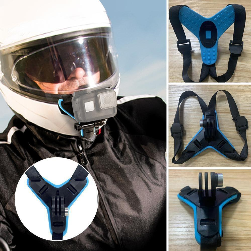1PC Full Face Helmet Chin Mount Holder for GoPro Hero 8 6 5 Motorcycle Helmet Chin Stand Camera Accessories for Go Pro Hero 8 6