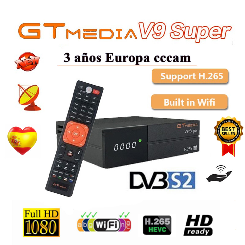 GTmedia Satellite Receiver V9 Super DVB-S2 H2 65 FREESAT V9SUPER Digital TV Receiver HD 1080P HD Built-in WIFI Media Player