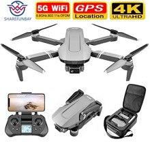 SHAREFUNBAY F4 drone 4k 5g HD dwuosiowa kamera kardanowa WiFi dron FPV bezszczotkowy silnik lot 25 min RC 2 km RC quadrotor dron