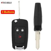2+ 1/3 Кнопка Складной флип-пульт дистанционного управления умный Автомобильный ключ чехол Корпус неразрезанное лезвие для Chevrolet Spark 2012 2013