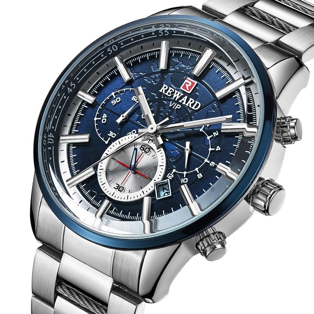 Hommes montre de luxe marque VIP en acier inoxydable montre-bracelet chronographe armée militaire Quartz montres Relogio hombre 2019