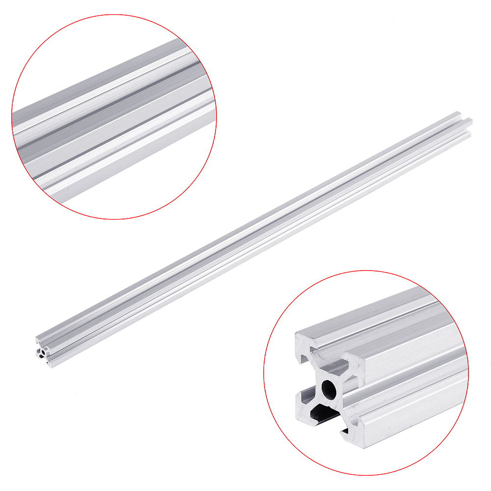 Silver 100-1200mm 2020 V-Slot Aluminum Profile Extrusion Frame For CNC Laser 3D Printer Camera Slider Furniture Woodworking DIY