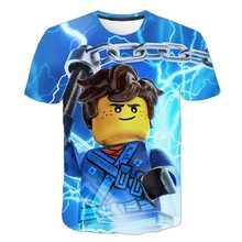 2021 crianças robloxing criança para o pescoço superior t verão criança 3d impressão casual tshirt meninos jogo esporte camiseta crianças anime roupas