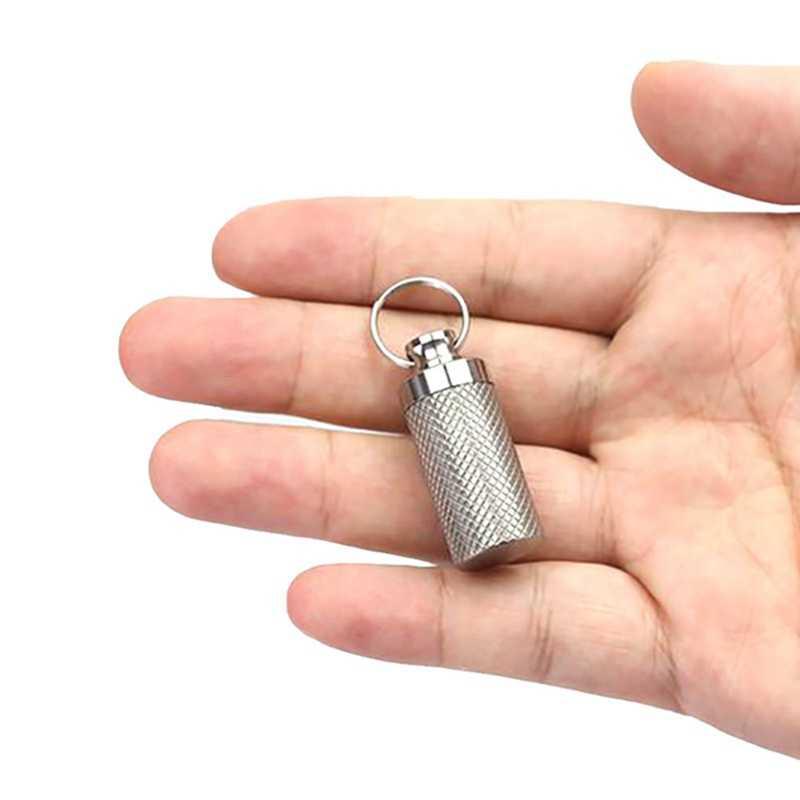Мини EDC инструмент для хранения аварийной шестерни держатель коробка водонепроницаемый путешествия таблетки Бутылка Открытый Портативный чехол Брелок из титанового сплава