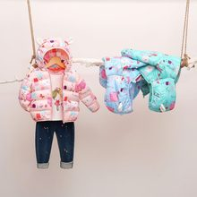 Children's Cotton-Padded Jacket 2020 New Lightweight Boys and Girls Coats Baby Kids Down Jacket Kids Coats Boys Winter(China)