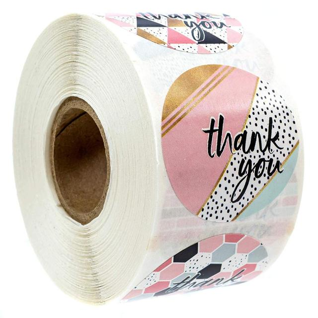 Thank You Stickers Roll 500pc 2