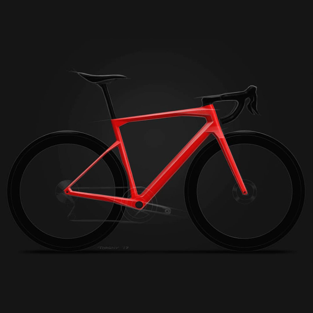 2020 T1000 Full Carbon Road Bicycle Frameset SPEED MACHINE X Bike Frame Fork Seatpost With Integrated Handlebar