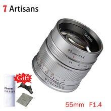 7artisans 55mm F1.4 grande ouverture mise au point manuelle Micro caméra Prime Fix longueur de mise au point objectif pour Sony E Mount Fuji FX Mount
