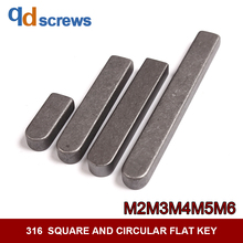 316 M2M3M4M5MM6 stainless steel square and circular flat key one side