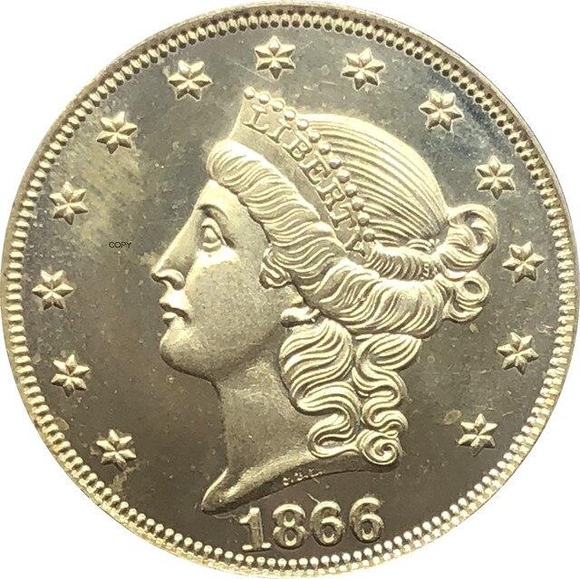 США с девизом Double Eagle 1866 1867 1868 1869 1870 1871 1872 1873 1874 1875 1876 1877 1878 двадцать долларов копия монеты