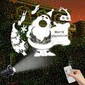 Водонепроницаемый Рождественский проектор  светильник s 3D  яркий светодиодный светильник с поворотом на 360 градусов для рождества  Нового г...