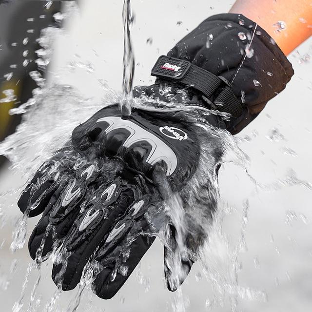 Koop Nieuwe Motorhandschoenen Winter Warm Waterdicht Handschoen Outdoor Sport Ski Skate Handschoenen Motorbiker Motocross Racing Riding Bike